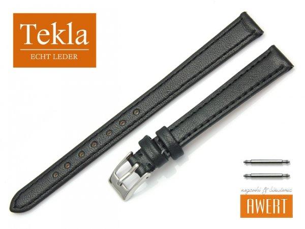Pasek do zegarka skórzany 12 mm XL TEKLA PT69 czarny