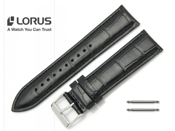 LORUS 22 mm oryginalny pasek 917504 czarny