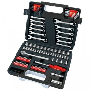 107pc diy socket set toolkit