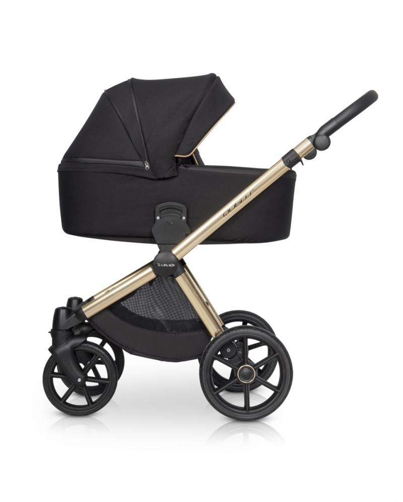 Wózek Riko czarno złoty