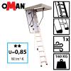 Oman Bodentreppe OMAN EXTRA U=0,85 Energiesparende Treppe