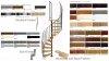 Treppen Atrium DIXI PLUS Schwarz 11 Stufen Natürliche Erle modular Systemtreppen