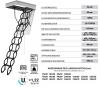 Bodentreppe Oman Flex Termo Metal Box scherentreppe mit Metall-Box