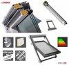 Dachfenster OKPOL IGOV N22 PVC Schwingfenster aus Kunststoff 3-Scheiben Uw=0,86 Energiesparende - mit Dauerlüftung - PVC - MIT ERHÖHTER FEUCHTERESISTENZ