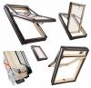 Dachfenster Roto Designo R7 Hoch-Schwingfenster R79 H 3-fach-Verglasung ENERGIE Holz klar lackiert mit Wärmedämmblock