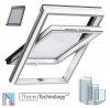 VELUX Dachfenster GLU 0061 B GLU S10002 3-fach-Verglasung Uw= 1,1 Schwingfenster Kunststoffqualität Boden Griff mit Dauerlüftung ThermoTechnology