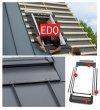 VELUX Eindeckrahmen / Dichtungskragen EDQ 2000 [BDX 2000] für Stehfalz Blatt incl. Thermische Isolationsset Set