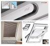 VELUX Dachfenster GLU 0051 B Unten Griff Uw= 1,3 Schwingfenster, Schwingfunktion bis zum Anschlag, Kunststoff -qualität mit Dauerlüftung, Lüftungsklappe und Luftfilter, ThermoTechnology™, Holzkern und nahtloser Kunststoff-Umhüllung aus Polyurethan,  alte