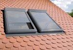 Außenrollladen Fakro ARZ-H , Außenrollladen, Rollladen, Außenrollo,  Bedienung manuell per Kurbel, manueller Rollladen für Dachfenster aus Holz: FTP, FTU, FPP und FPU (Holzfenster), handgehalten, 101 / 102 Farbe, Aluminium