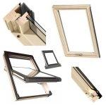 Dachfenster Okpol MSO E2 XSO Schwingfenster Holz Uw= 1,2 W/m²K  Thermo 2-Fach-Veglasung klar lackiert
