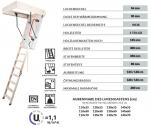 Bodentreppe KOMFORT U=1,22, Dichtung und ein 36 mm dicker Lukendeckel, weiße Öffnungsklappe + Handlauf + Bodenschutzkappen