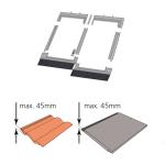 Kombi-Eindeckrahmen keylite CTRF 2/1 Ziegel(1,5 bis 4,5cm)