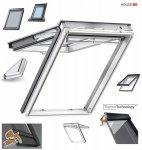 Dachfenster VELUX GPU 0050 Uw=1,3 Klapp-Schwingfenster Verglasungen  Alternative für THERMO-STAR Kunstoff-Fenster mit Riesen-Öffnungswinkel Standard Verglasung