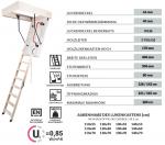 Oman Bodentreppe Termo OMAN EXTRA U=0,85 Energiesparende Treppe