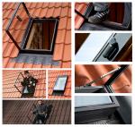 Ausstiegsfenster VELUX GVT 54X83 0059Z 103  gehärtetes Glas für unbeheizte Räume / Dachausstieg aus Polyurethan in Schwarz  für Kalträume