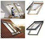 Dachfenster VELUX GPL 3050 Klapp-Schwingfenster Uw=1,3 aus Holz mit Riesen-Öffnungswinkel Standard Verglasung