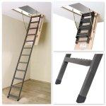 Bodenteppe FAKRO LMS Mehrteilige Bodentreppe mit Metallleiter U=1,1 W/m²K