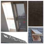 OKPOL Hitzeschutz-Markise AMW Außenzubehör Markise Anti-Hitze-Markise für OKPOL Dachfenster [interne montage Okpol AMW]