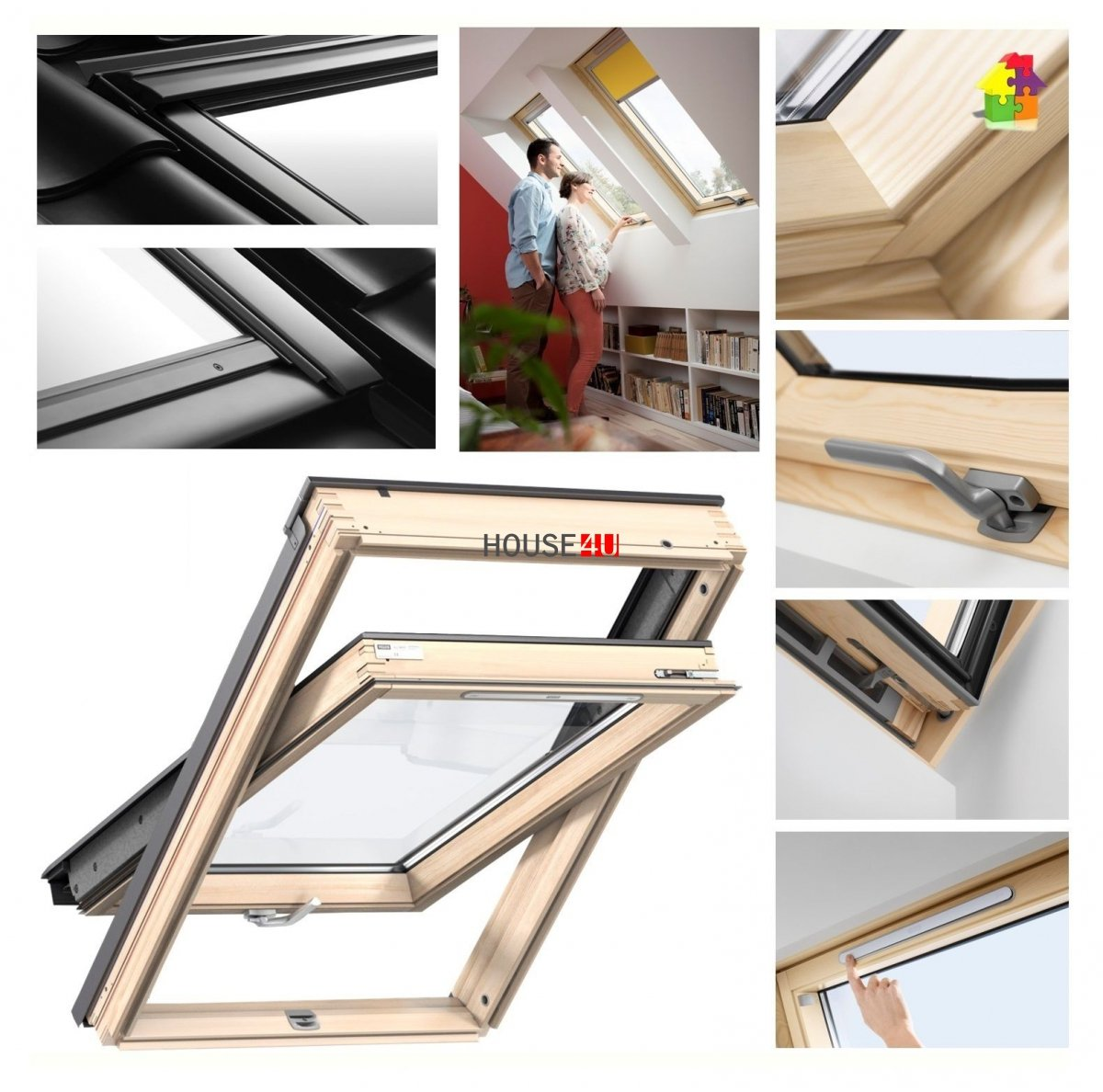velux dachfenster gzl 1051b schwingfenster aus holz boden griff uw 1 3 thermo 2 fach veglasung. Black Bedroom Furniture Sets. Home Design Ideas