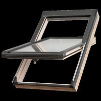Dachfenster Okpol ISO E2 Schwingfenster Uw=1,2 W/m²K Holz klar lackiert