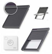 VELUX Dachfenster Außenrollladen SSL 0000S Aluminium INTEGRA® Solar- Rollladen Dunkelgrau inkl. Fernbedienung / Funk-Wandschalter