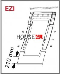 Eindeckrahmen Roto EDR ZIE für profilierte Eindeckmaterialien mit WD