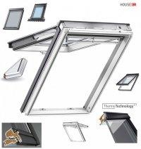 Dachfenster VELUX GPU 0050 Uw=1,3 Klapp-Schwingfenster Verglasungen Alternative für THERMO-STAR Kunstoff-Fenster mit Riesen-Öffnungswink<br />el Standard Verglasung