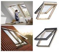 Dachfenster VELUX GPL 3050 Klapp-Schwingfenster Uw=1,3 aus Holz mit Riesen-Öffnungswink<br />el Standard Verglasung
