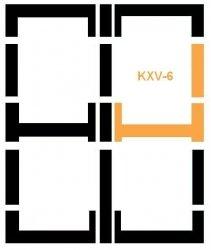 Eindeckrahmen Fakro KXV-6 Modul für die Kombination übereinander
