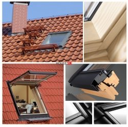 VELUX Dachfenster GTL 3066 Uw=1,1 Holz Wohn- und Ausstiegsfenster mit Klapp-Schwing-Funktion klar lackiert ENEGIE PLUS  Aluminium