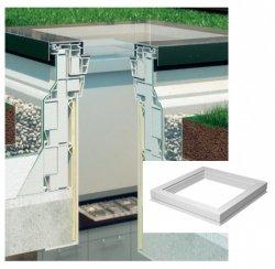 Aufsetzkranz Fakro XRD/W für Flachdach-Ausstiegsfenster und begehbares Fenster DXW (+15 cm)