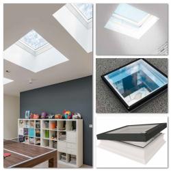 Flachdach-Fenster Fakro DEG P2 elektrisch gesteuert mit Flachglassegment