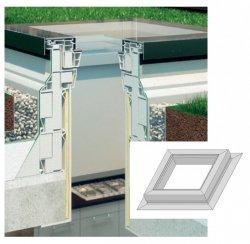 Aufsetzkranz Fakro XRD Flachdach-Fenster vom Typ C, F, G (+15 cm)