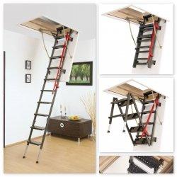 Bodenteppe FAKRO LML Lux Mehrteilige Bodentreppe mit Metallleiter U=1,1 W/m²K
