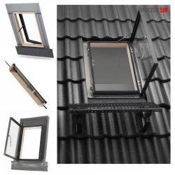 Dachluken OKPOL VERSA WVD 47x73 Ausstiegsfenster jetzt mit neuen Eindeckrahmen, für ungeheizte Räume