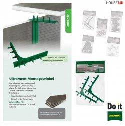Montagewinkel Ultrament Do-it Zur schnellen Verbindung und Fixierung der Bauplatte - Do it ab einer Stärke von 20 mm sowie der Ultrament Rohrkästen, X-Board, Bauplatte Flexplatte Qboard Fliesenbauplatte