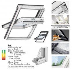VELUX Schwingfenster GGU 0066 ENERGY-STAR aus Kunststoff 5 3-fach-Verglasung