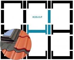 Eindeckrahmen Fakro KXN-5-P Modul für die Kombination übereinander für hochprofilierte Eindeckmaterialien