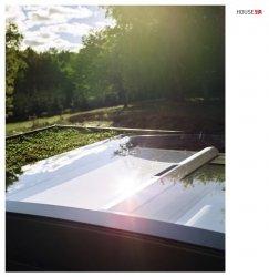 Solar-Hitzeschutz-Markise Velux MSG für Flachdach-Fenster,  solarbetrieben, 6090 weiß, inkl. Funk-Wandschalter