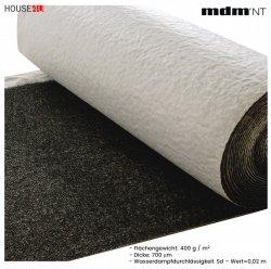 Dachbahnen - Unterspannbahnen MDM® Ventia Metal Dreischichtig mit einem Gewicht von ca. 400 g / m² und einer Dicke von 700 µm, Wert Sd=0,02 m.