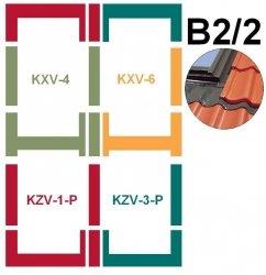 Kombi-Eindeckrahmensystem Fakro KZV B2/2 für profilierte Eindeckmaterialien