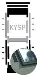Kombi-Eindeckrahmen Okpol KYSP für Flache Eindeckmaterialen