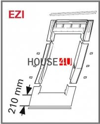 Eindeckrahmen Roto EDR EZI für ebener Ziegel ohne WD