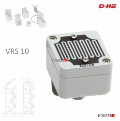 Regenmelder D+H VRS 10 zur Regenüberwachung von Lüftungsklappen mit 24V Antrieben