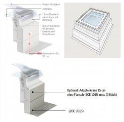 VELUX ZCE 1015 Adapterkranz 15 cm (Adapterkranz ohne Flansch, Farbe grau*)