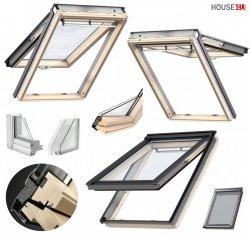 Dachfenster Velux GPL 3070 Klapp-Schwingfenster aus Holz mit Riesen-Öffnungswinkel mit natürlichem Reinigungseffekt THERMO Verglasung 2-fach - Verglasung _ _70 ESG außen, VSG innen