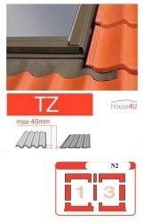 Kombi-Eindeckrahmen Optilight TZ-N2 Eindeckrahmen - für profilierte Eindeckmaterialien / Profilbeläge bis zu 4,5 cm hoch Profil