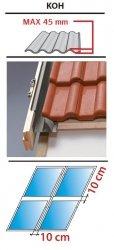 Kombi Eindeckrahmen 2/2 Oman KUF für profilierte Eindeckmaterialien 0 - 45mm