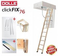OUTLET: Bodentreppe Dolle ClickFIX 76 70x120 GOLD U= 0,49 Super-thermoisolierte  Click-fix 3-teilig mit Handlauf Versand 48H