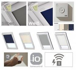 VELUX DML Standard INTEGRA® Elektro-Verdunkelungsrollo für VELUX Dachfenster, Pick&Click ®-Systems, dreilagigen Oeko-Tex®-Stoff